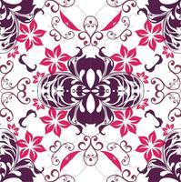 Fond de motif de fleurs roses vecteur