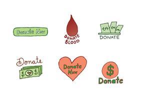 Série gratuite de vecteurs d'icônes de don vecteur