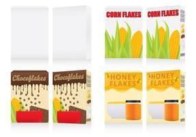 Boîtes à céréales vecteur