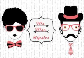Vecteurs de visage hipster vecteur