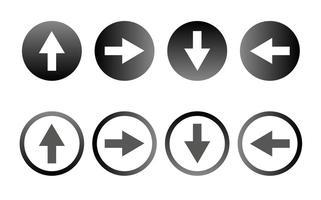 Vecteur icône flèche libre