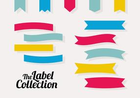 Collection de vecteur d'étiquettes gratuites