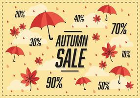 Fond de vecteur gratuit de vente d'automne