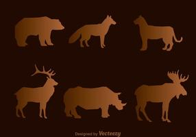 Vecteurs de silhouette animale sauvage vecteur