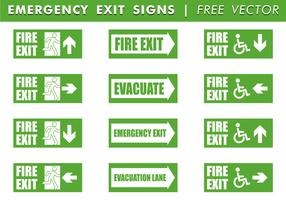 Signaux de sortie d'urgence Free Vector