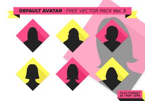 Default avatar free vector pack vol. 3