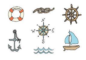 Série de vecteurs nautiques gratuits