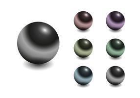Vecteur sphère chromé gratuit