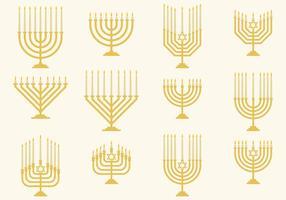 Vecteurs Hanukkah Monorah vecteur
