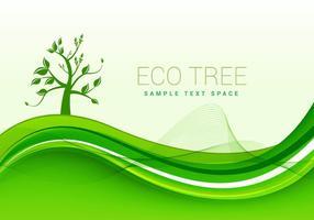 Eco vecteur fond vert