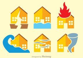 Vecteurs plats en cas de catastrophe naturelle vecteur