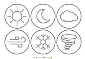 Icônes de la ligne météorologique vecteur