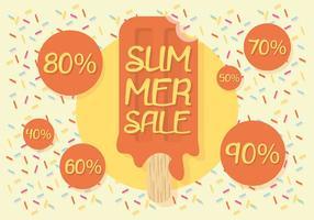 Fond de vecteur gratuit de vente d'été
