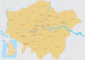 Vecteur carte de Londres