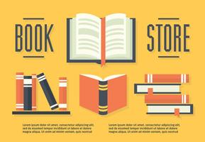 Ensemble gratuit de livres dans l'illustration vectorielle Flat Design