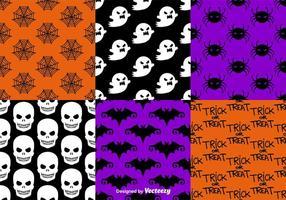 Motifs transparents de Halloween vecteur
