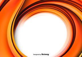 Soie orange ornée vecteur