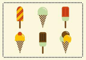 Icônes de crème glacée vintage rétro gratuites vecteur