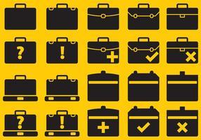Icônes de valises vectorielles