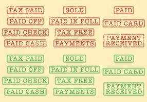 Timbres de paiement