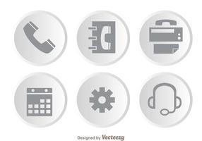 Service à la clientèle Icônes grises