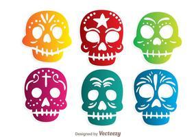 Vecteurs de Skulll décoratifs colorés vecteur