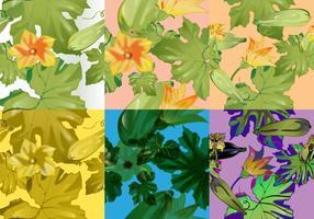 Motif aux courgettes aux légumes vecteur
