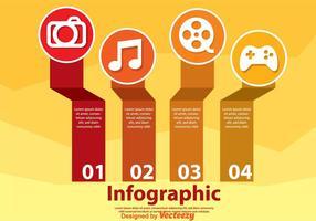 Infographie de Hobby vecteur