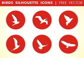 Icônes de silhouette d'oiseau vecteur gratuit