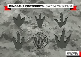 Pack de vecteur gratuit pour les empreintes de pas de dinosaures