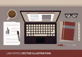 Illustration vectorielle de l'espace de travail