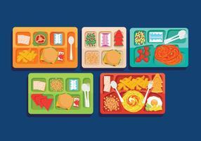 Vecteurs de repas scolaires vecteur