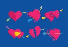 Flèche à travers vecteur cardiaque