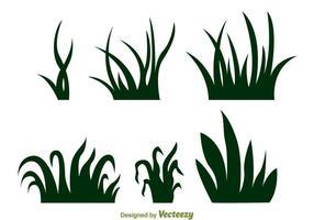 Vecteurs de silhouette herbe vecteur