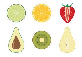 Vue de dessus de fruits vecteur
