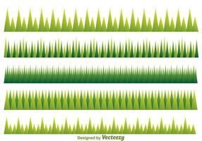 Modèle d'herbe verte vecteur