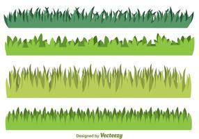L'herbe verte vecteur