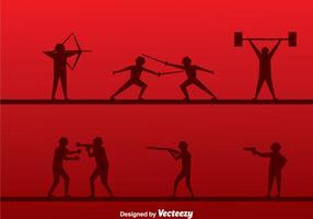 Vecteur silhouette sport
