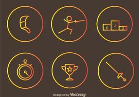 Fencing icônes vectorielles