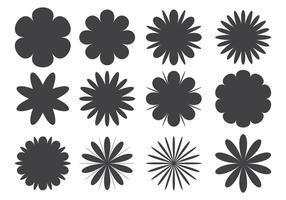Assortiment de fleurs en forme vecteur