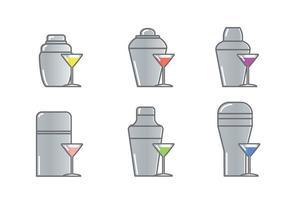 Vecteur icône shaker shake