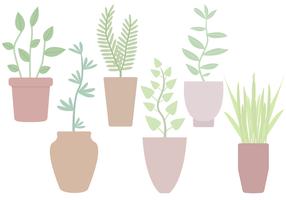 Vecteur libre de plantes en pot