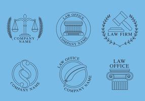 Logos d'avocats vecteur