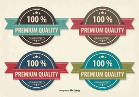 Ensemble de badge rétro Style de qualité supérieure vecteur