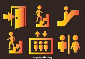 Signes vectoriels publics vecteur