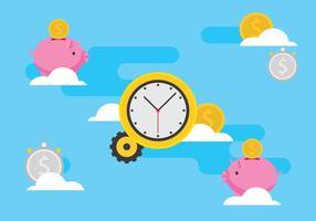 Le temps est l'illustration de l'argent vecteur