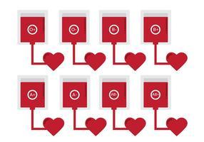 Vecteurs d'icônes de don de sang vecteur