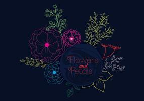 Fleur et pétales vecteur