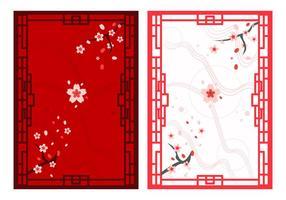 Des beaux ornements japonais gratuits vecteur