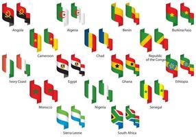 Rubans d'Afrique vecteur